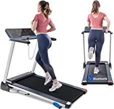 Tricodale Folding Treadmill with Incline, 10 MPH Treadmill 4.0HP Innovative Bluetooth Treadmill Walking Running Machine wi...