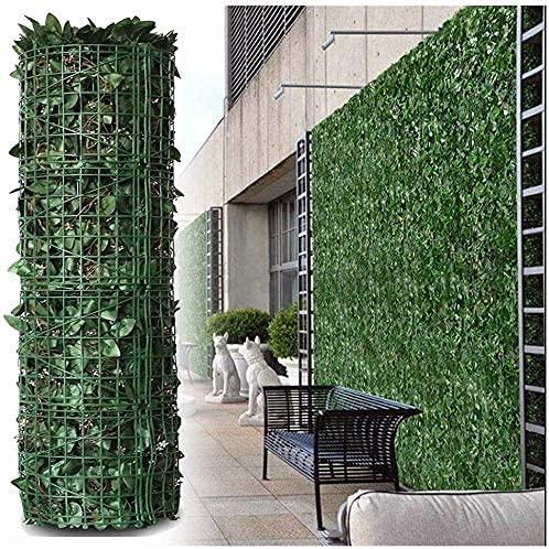 Seto Artificial Ocultacion Jardin Malla de balcón Decoración de terraza de jardín Vallas decorativas Valla de jardín Valla de privacidad de pared de planta artificial Malla de Ocultacion con Hoj