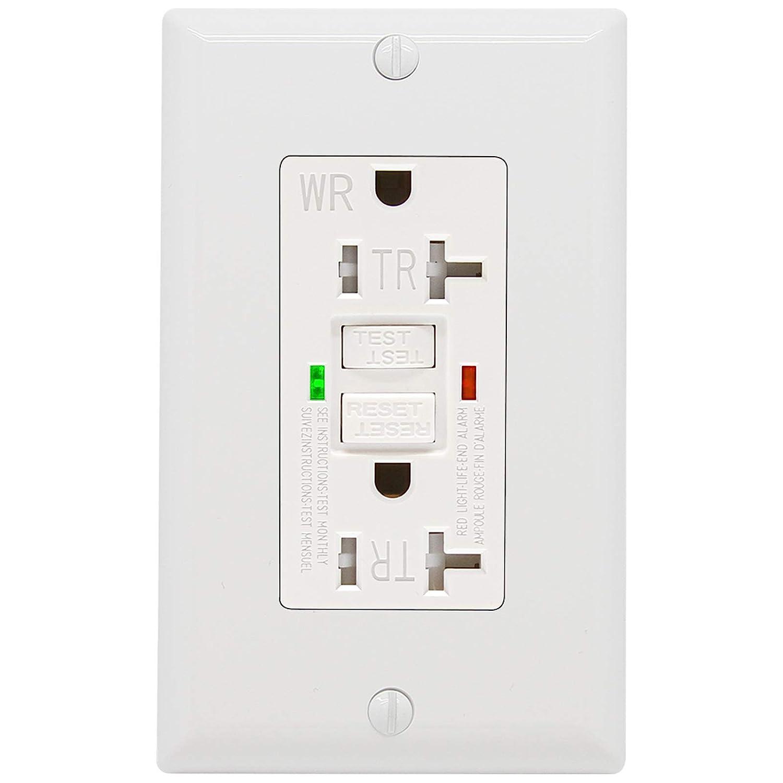 GFCI Regular discount Ranking TOP12 Outlet 20 Amp UL Indicator Tamper-Resistant Listed LED