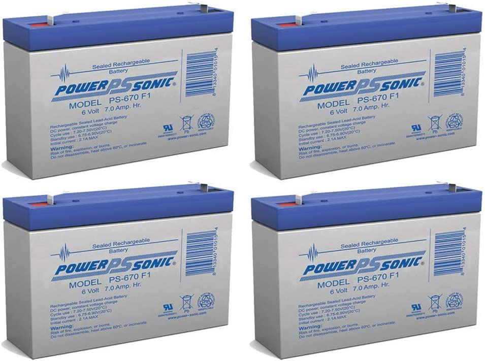 Power Sonic 6V 7Ah Replacement Battery P PE6A6R Portalac Japan Maker New GS Special sale item for