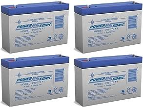PS-670 - 6V 7Amp SLA Battery PACK OF 4