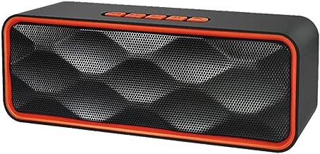 Leya Portable Speakers SC211 Multifunctional Card Music Playback Bluetooth Speaker, Support Handfree Call & TF Card & U-Disk & AUX Audio & FM Function(Black) (Color : Orange)