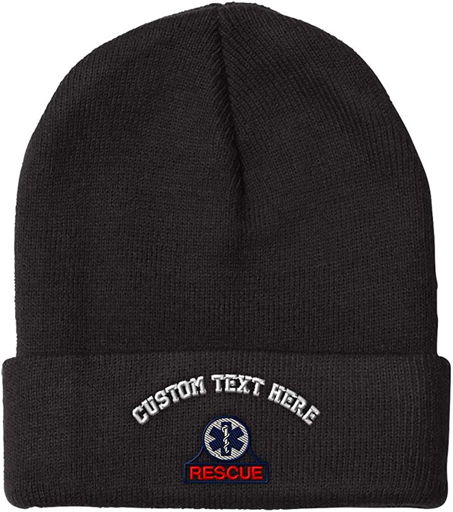 Beanies famous for Men EMT Rescue At the price of surprise Women Winter Embroidery Acrylic Hats
