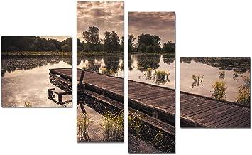 لوحة فنية جدارية لديكور المنزل ,لوحات مطبوعة بدون اطار ,4 قطع ,B1006002