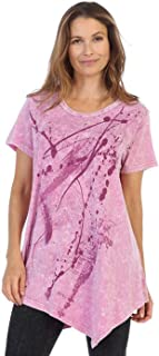 Women's Imagination Mineral Washed Cotton Asymmetric Tunic Top