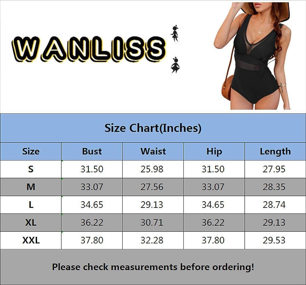 WANLISS Womens V Neck One Piece Swimsuit for Women Athletic Crisscross Swimwear Bathing Suits Long Torso Swimsuit Swimwear