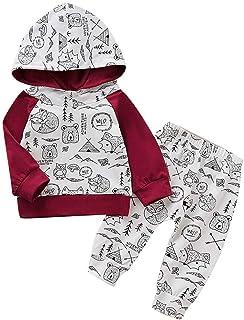 Baby Junge Brief Lil/' King Drucken Lange /Ärmel Mit Kapuze Top Hose Kapuzenpullover Sweatshirt 6-12 Monate 12-18 Monate 18-24 Monate 2-3 Jahre 3-4 Jahre wuayi Junge Kleidung Set