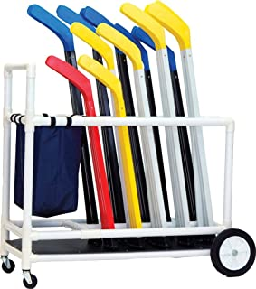 Champion Sports Deluxe Abs Floor Hockey Cart (White)