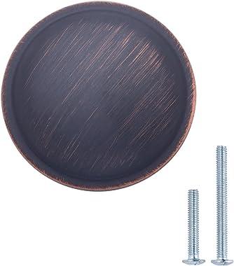 Amazon Basics Mushroom Cabinet Knob, 1.19-inch Diameter, Oil Rubbed Bronze, 10-Pack