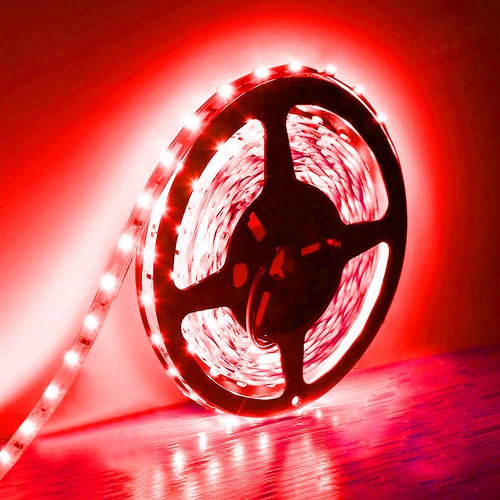 Tira de luces LED de 5m, 300 unidades, SMD 5630, 12V, baja tensión, no impermeable, IP20, iluminación LED para armario de cocina y más, rojo 12volts
