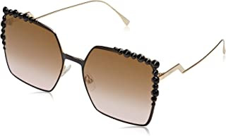 Fendi Women's Ff 0259/S 53 Sunglasses, Black, 60