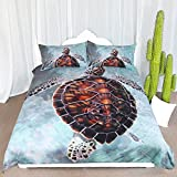 Sea Turtle Bedding Duvet Cover With Pillow Cases