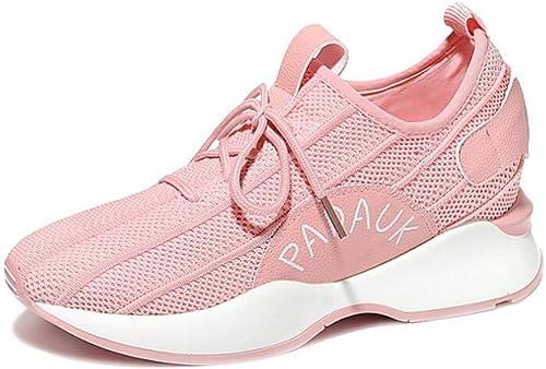 zapatos de mujer Summer Fall New Turnzapatos, Suela Liviana de Malla Transpirable para mujer zapatos, Antideslizante Shock Absorption Gym Sports Trainers