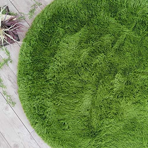サヤンサヤン エクセレントムーティーⅡ 洗える シャギー ラグ 円形 直径 140 ユーカリ マット