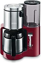 Siemens TC86504 koffiezetapparaat (roestvrijstalen thermokan, klokfunctie, voor 8-12 kopjes, automatische uitschakeling, ...