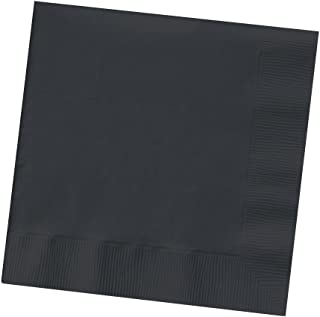 Creative Converting Touch of Color 200 Count 2-Ply Paper Beverage Napkins, Black Velvet (259134)