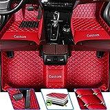 Tuqiang Alfombrillas de coche – Ajuste personalizado para Audi A1 A3 A4 A4L A5 A6 A6L A7 A8 A8L Q2 Q3 Q5 Q7 R8 S1 S3 S4 S5 S6 S7 S8 Q2 alfombrillas de piel antideslizantes, juego completo, color rojo