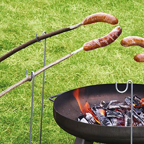 bellissa Grillspießhalter – Grill-Spieße Halter für Lagerfeuerspieße, Grillstecken, Grillstäbe, Grillstangen 10er Set