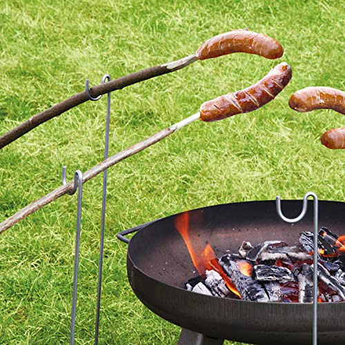 bellissa Grillspießhalter – Grill-Spieße Halter für Lagerfeuerspieße, Grillstecken, Grillstäbe, Grillstangen 8er Set
