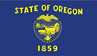 2-Pack Oregon State Flag Decal Sticker | 5-Inches By 3-Inches | Premium Quality Vinyl | PD343