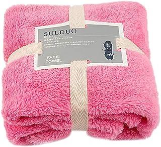 Dream バスタオル タオル 2点セート 着れるスタイル レディース バスワンピース ずり落ちない 肌触りがよい 吸水 速乾 便利 部屋着 70×140cm (ピンク)