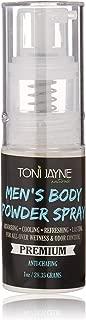 Men's Body Powder Spray by Toni Jayne Naturals: Fresh Aloe Vera Body Spray for Men| Full Body Cooling & Odor Control Spray|Natural Anti-Sweat, Anti-Chafing Body Powder Spray| Non Talc 1oz