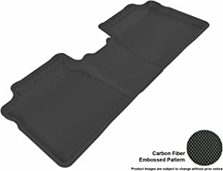 3D MAXpider Second Row Custom Fit All-Weather Floor Mat for Select Toyota Prius Models - Kagu Rubber (Black)