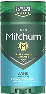 Mitchum Antiperspirant Deodorant Stick for Men, Triple Odor Defense Invisible Solid, 48 Hr Protection, Dermatologist Teste...