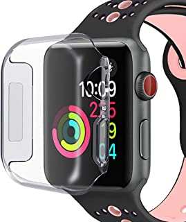 2 Pack for Apple Watch Case Compatible for Apple Watch Screen Protector, Overall Protective Case TPU HD Clear Ultra-Thin C...