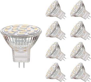 EKSAVE Bombillas LED MR11 GU4.0 de 3,5 W, equivalente a bombillas halógenas de 25 a 35 W, base GU4.0 CA/CC 12 V, 350 lm, haz de luz de 120°, iluminación de riel (3000 K, 8 unidades)