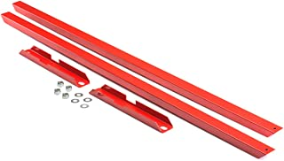 BlackPath - Fits Ford Mustang Subframe Connector Kit Fox Body (Red) Steel