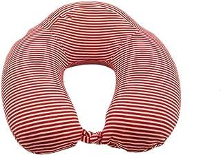 Ecloud Shop® Almohada de Viaje 100%, Almohada en Forma de U, Almohada de Espuma de Memoria Pura para el Cuello, Cubierta cómoda y Transpirable, Lavable (Rojo)