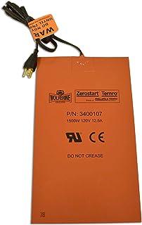 Zerostart 3400107 Silicone Pad Heater Engine Oil, Transmission Fluid, Reservoir and Hydraulic Fluid Heater, 8½' x 14½' | 120 Volts | 1500 Watts