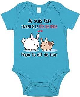 TEEZILY Body Bébé Je suis Ton Cadeau de la fête des mères, Papa Te Dit de Rien