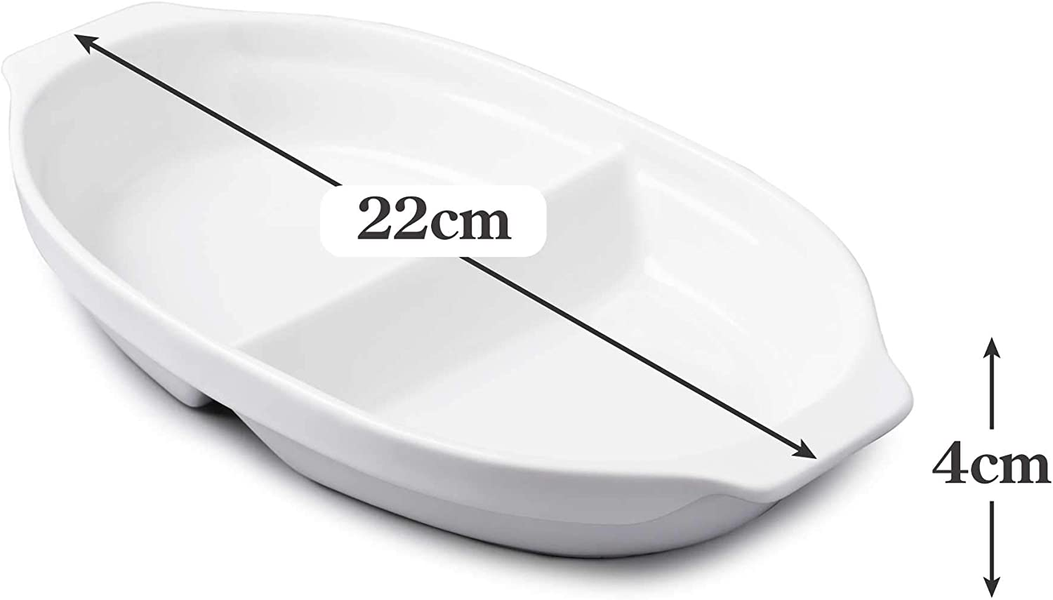 White WM Bartleet /& Sons 1750 T397 Traditional Porcelain Small Divided Vegetable and Sides Serving Dish 22cm