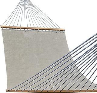Lazy Daze Hammocks 55inch Quick-Dry Hammock with Textliene Fabric and Hardwood Spreader Bar for Poolside Outdoor, Tan