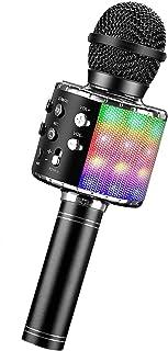 Yostyle Micrófono Karaoke Bluetooth, Portátil Inalámbrica Micrófono y Altavoz del Karaoke con LED para Niños Canta Partido...