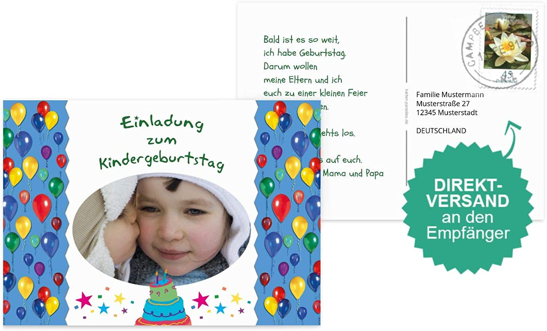Einladungskarte Foto Luftballon, 30 Karten, Karten, Karten, DunkelGrün B07L1H3T6W |   bcda7c