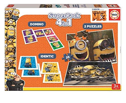 Despicable Me 3 Despicable me Superpack 4 Juego en 1 (Educa Borrás 17364)