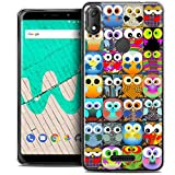 Ultra-Slim Case for 6 Inch Wiko View Max, Claude Owls