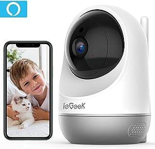 ieGeek Cámara de Vigilancia WiFi Interior Cámara IP WiFi de Seguridad AI Cámara para Mascotas con Seguimiento de Movimiento HD Visión Nocturna para Monitorear Bebés/Mascotas Apoyo Alexa