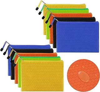 Bolsas de Documentos A5, 10 Piezas Bolsas de Archivos con Cremallera, Carpetas de Archivo de Cremallera A5, Bolsa de Archi...