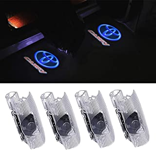 4 PCS Compatible Toyota Door Logo Lights Projector LED 3D Shadow Ghost Light for Toyota Camry 2007-2018 Puddle Light Accessories