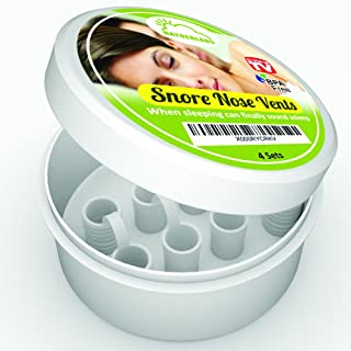 Dispositivo Anti-ronquidos para UNA Buena Noche de sueño. Contiene 4 dilatadores nasales en