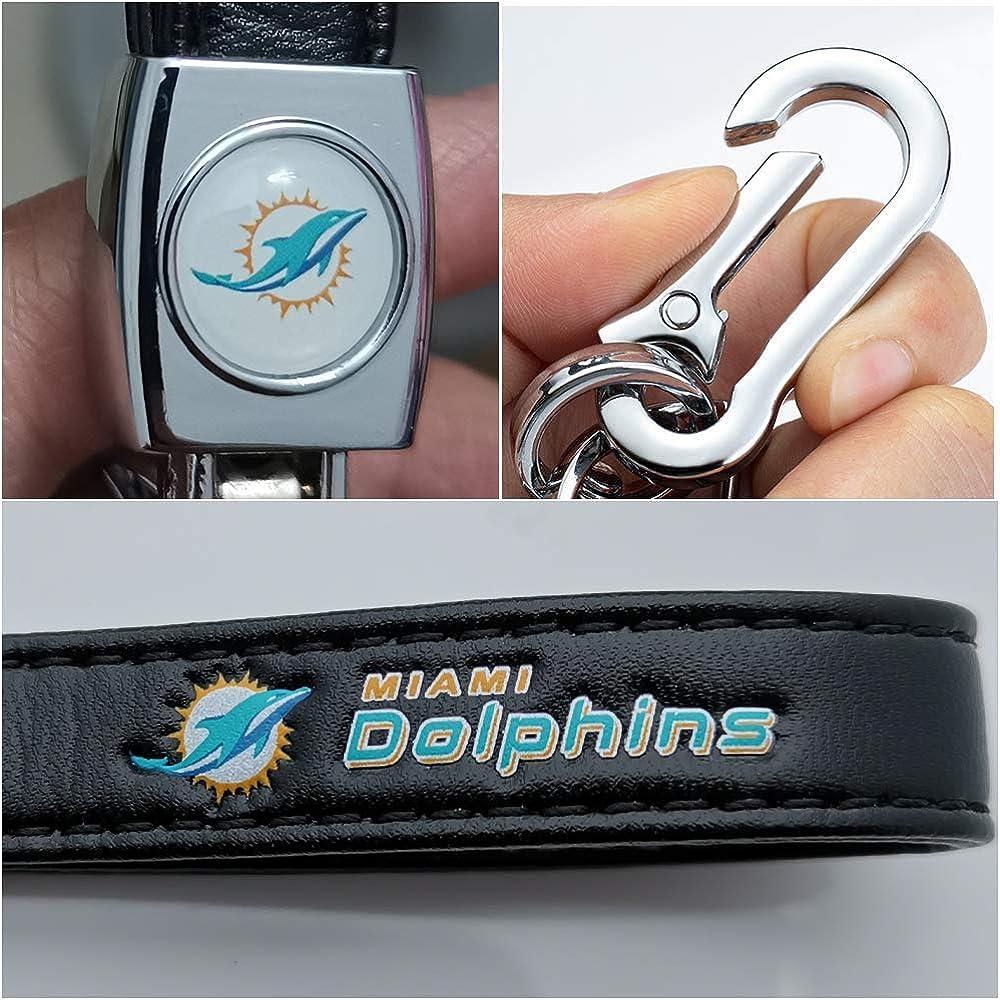 Kandich M-BWW Genuine Leather Keychains with Ball Team Logo