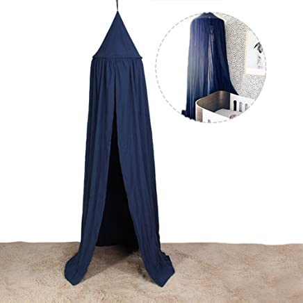 Yosoo Mosquito Net Canopy, Dome Princess Bed Cotton Cloth Tents Childrens Room Decorate for Baby Kids Reading Play Indoor Games House (Royal Blue)