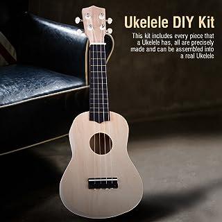 Create your own ukulele instrument accessory with the 21-inch Hawaii Ukulele Kit, Basswood 4-String Ukulele DIY Kit, Kids,...