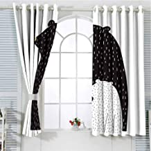 GOMAE Grommet Curtain Abstraction. Black Ketchup Stains on White.jpg