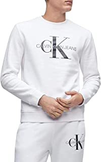 Calvin Klein Men's Monogram Logo Crew Neck Sweatshirt Shirt