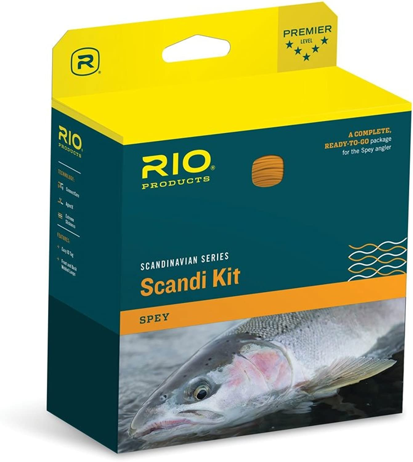 Rio Fly Fishing Fly Line Scandia Shad Kit 9 Fishing Line, Salmon orange
